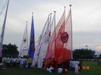 Photo of flags of some of the companies / organisations that took part