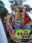 Photo of 'lions' and 'dragons' that took part in the procession