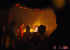 Photo of the committee people lighting fire