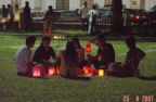 Photo of a group of youngsters with lanterns