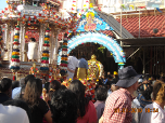 Statue of Lord Muruga going to chariot